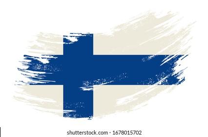 The Proud Flag of Finland! Socks Hand Painted Brush Stroke Design of the Finnish Flag