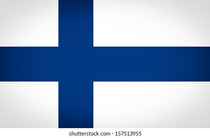 Finnish flag of Finland vignetted