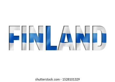 finnish flag text font. finland symbol background