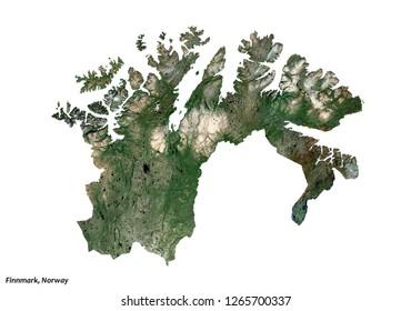 Finnmark, Norway Map (3D illustration)