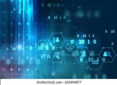 fintech icon  on abstract financial technology background represent Blockchain and  Fintech Investment Financial Internet Technology Concept.