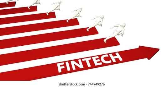 Fintech Information and Presentation Concept for Business 3d Render