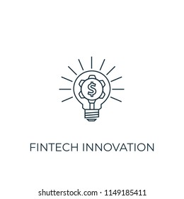 Fintech innovation Line icon. Simple element illustration. Fintech innovation symbol design from Cryptocurrency collection. Can be used in web and mobile.