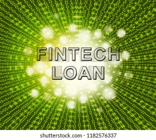 Fintech Loan P2p Finance Credit 2d Illustration Shows Online Money Microcredit Or Lending Virtual Transactions