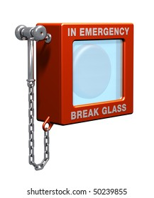 Fire alarm with hammer and chain
