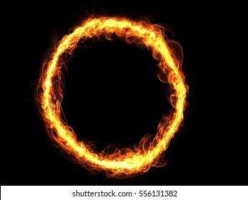 Fire alphabet letter O
