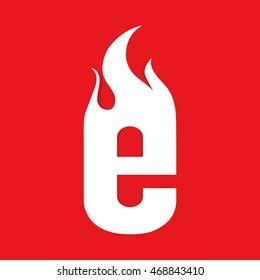 Fire E letter design