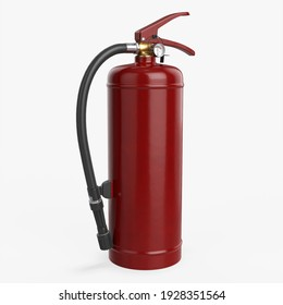 Fire extinguisher classes A, B clean 3D rendering isolated on white background