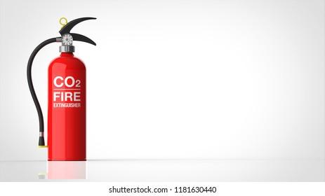 Fire extinguisher left 3d rendering