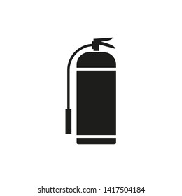 Fire extinguisher sign icon illustration
