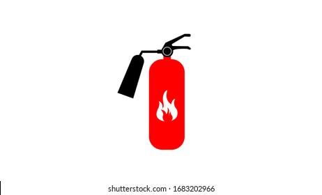 Fire extinguisher sign icon illustration