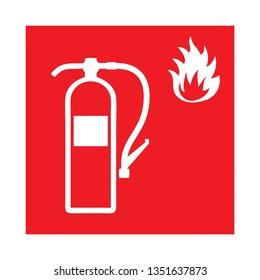 Fire extinguisher symbol pictogram