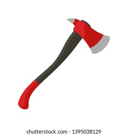 Fire fighter axe icon. Flat illustration of fire fighter axe icon for web design