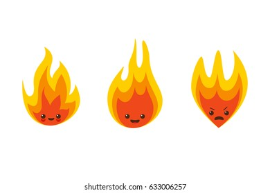 Fire flame character icons