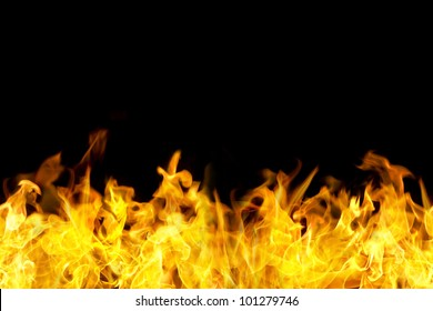 fire flames border in seamless horizontal style, use for banner.