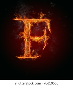 "Fire flaming letter ""F"""