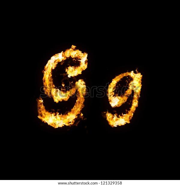 Fire Font Gg Stock Illustration 121329358
