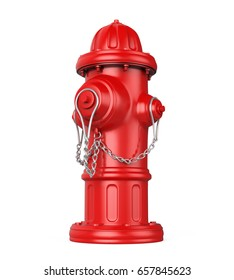 Fire Hydrant Isolated. 3D rendering