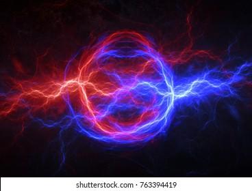 Fire And Ice Electrical Lightning Plasma Energy Background