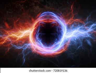 Fire and ice lightning, plasma energy background