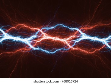 Fire and ice lightning, plasma and power background