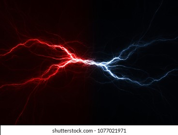 Fire and ice plasma lightning swirl, abstract electrical background