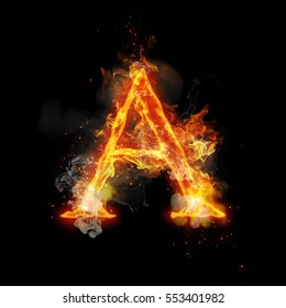 Immagini, foto stock e grafica vettoriale a tema Letters with Fire