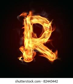 "Fire letter ""R"""