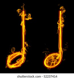 Fire note symbol / Check all fire letters in my portfolio.
