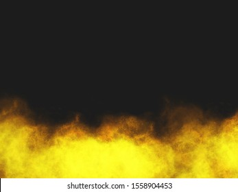 fire on black background copy space
