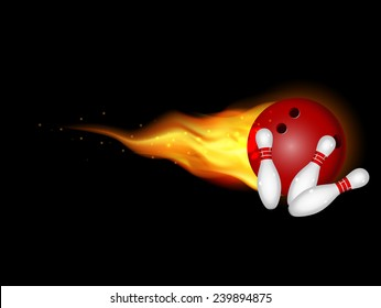 fire Red bowling ball is making a strike