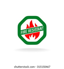Fire resistant icon
