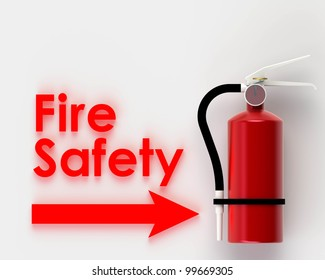 Fire safety on white background.