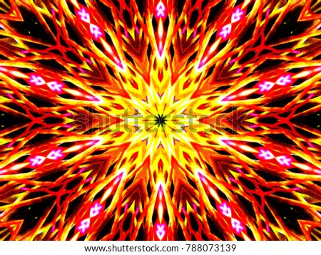 Royalty Free Stock Illustration Of Fire Star Wallpaper Stock