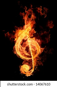 Fire violin key sign