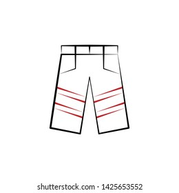 Firefighter, pants two color icon