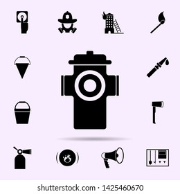 firehose icon. Fireman icons universal set for web and mobile