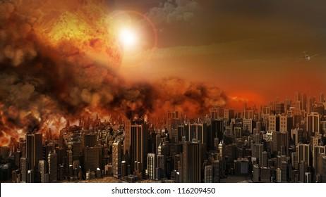 Firestorm over the city