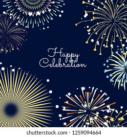 fireworks background illustration with place for text