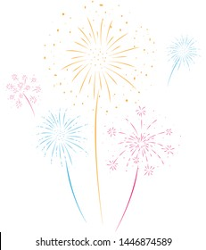 Fireworks festive and event background