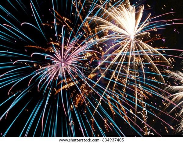 Fireworks illustration background