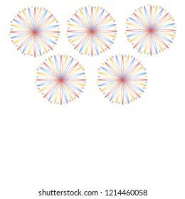 Fireworks on white background isolated
