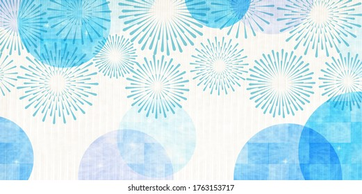 Fireworks summer Japanese pattern background