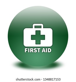 first aid button isolated