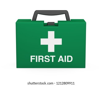 First Aid Kit Isolated. 3D rendering