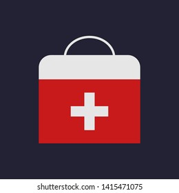 First aid kit. Medicine concept. Health care. Flat style. Illustration for design.