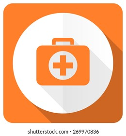 first aid orange flat icon hospital orange flat icon