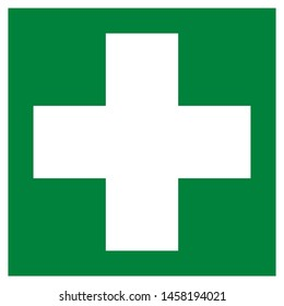 First aid symbol pictogram illustration