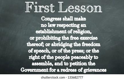 first amendment on a blackboard