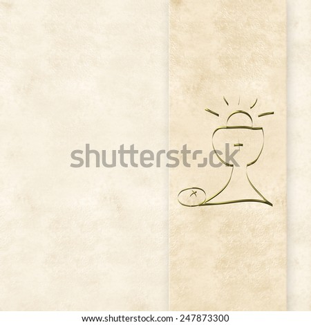 Royalty Free Stock Illustration Of First Holy Communion Cardgolden